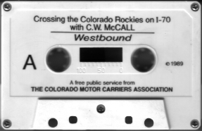 Crossing the Rockies cassette, side A