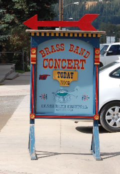 Band Brass Concert sign