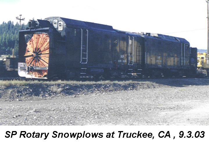 Southern Pacific rotary snowplows at Truckee, California, 3 September 2003