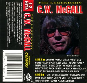 Cassette insert for The Legendary C.W. McCall